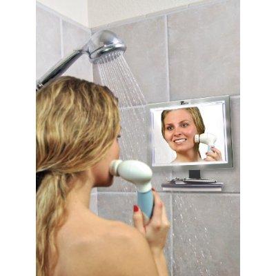 fogless shaving mirror for shower