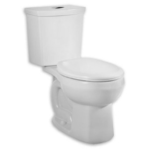 american standard H2O siphonic dual flush round toilet