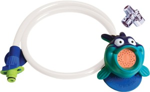 kids shower head detachable hose blowfish character