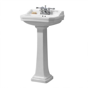bathroom pedestal sink combo