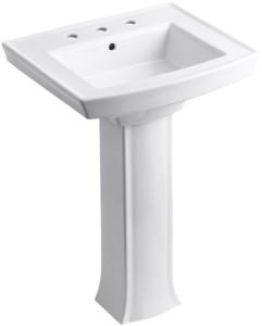 kohler archer pedestal sink