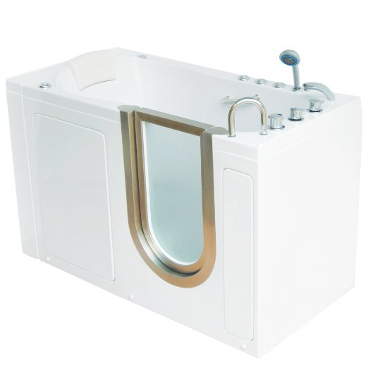 deluxe dual massage acrylic walk in tub