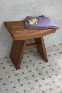 asia teak wood shower bench for adults