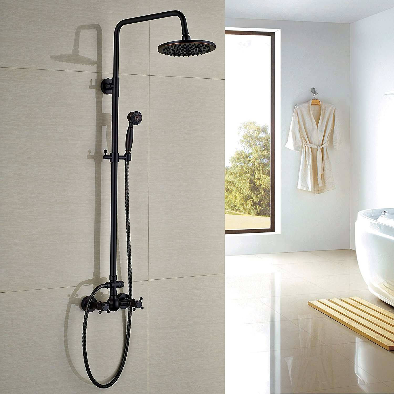 Rozin Adjustable Height Shower Head And Slide Bar Review